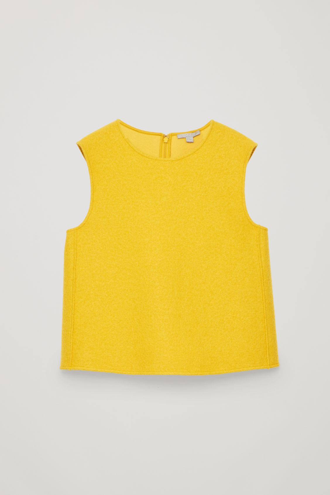 Cos Panelled Wool Vest Top In Yellow