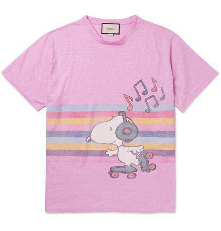 37dcb5eca7d4 Gucci Oversized Printed MÉLange Linen T-Shirt | ModeSens