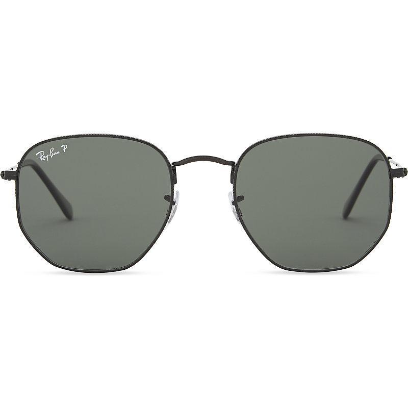 030c2e88d213a Ray Ban Rb3548N Hexagonal Sunglasses In Black