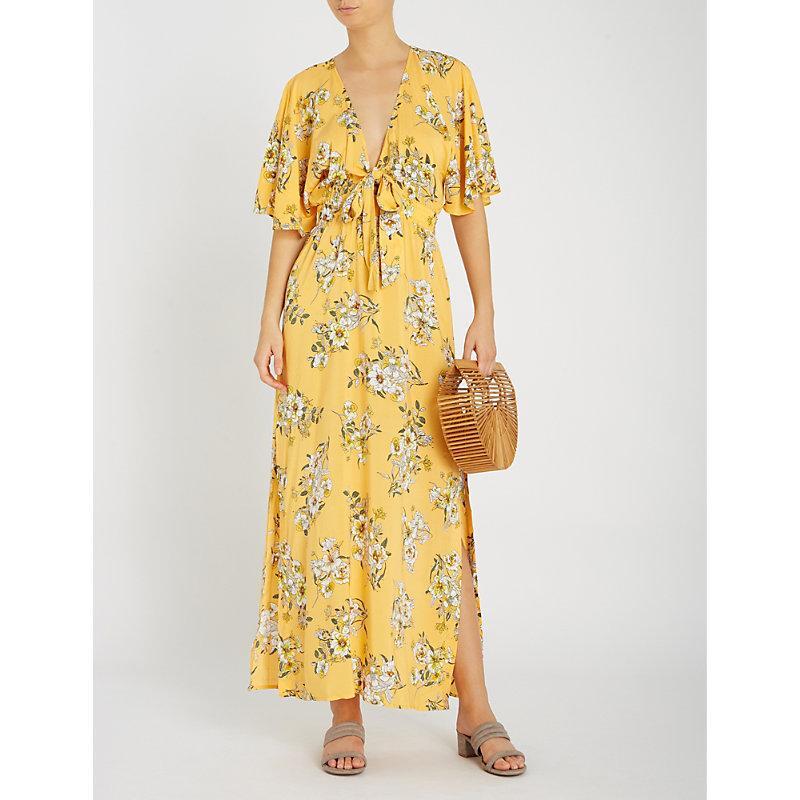 d90b9fc694 Seafolly Midsummer Floral-Print Woven Maxi Dress In Buttercup | ModeSens