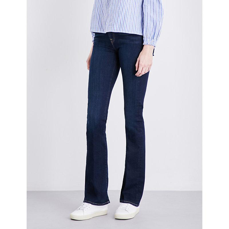 7 For All Mankind Bair Bootcut Mid-Rise Jeans In Bair Rinsed Indigo