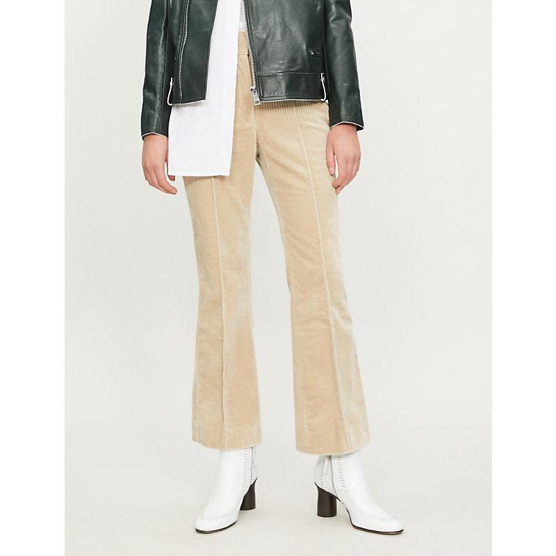 04106abe52 Joseph Ridge High-Rise Kick Flare Corduroy Trousers In Antique ...
