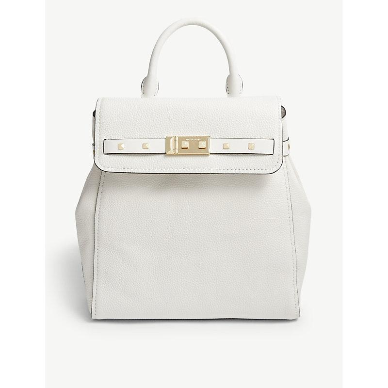 5c7fc75a8b Michael Michael Kors Addison Leather Backpack In Optic White