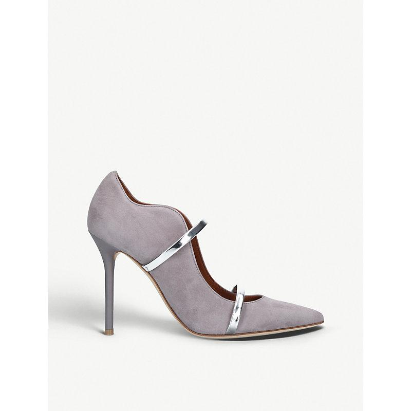 Malone Souliers Maureen 100 Suede Courts In Grey/Other