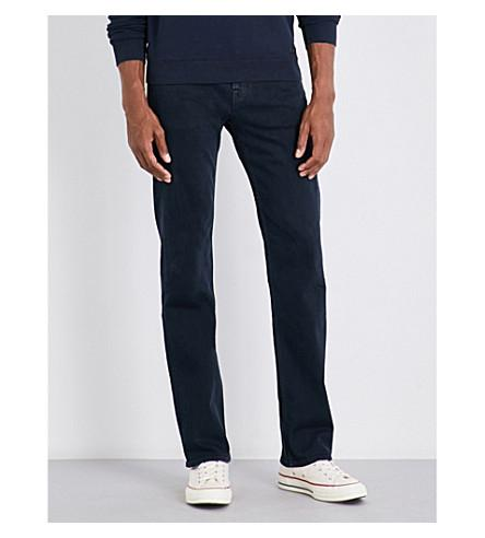 7 For All Mankind Standard Luxe Performance Standard-fit Straight Jeans In Rinse Blue