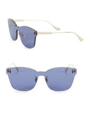 d66dd0099520 Dior Colorquake2 99Mm Rectangular Sunglasses In Blue
