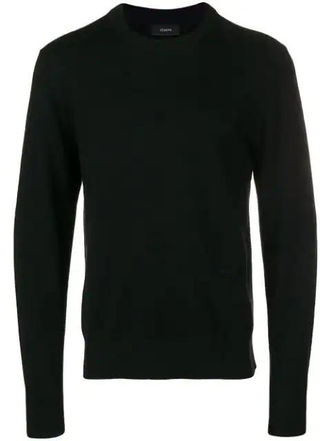Joseph Crew Neck Sweater In Black