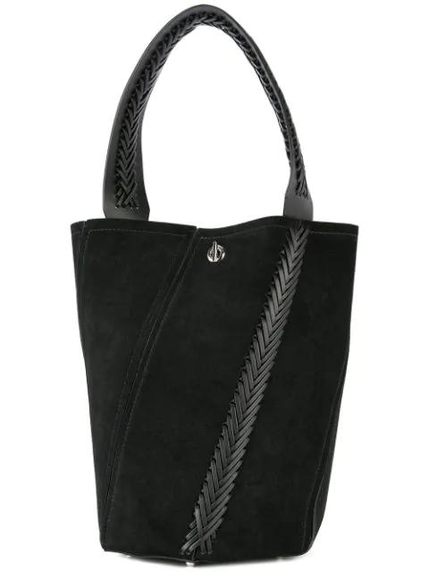 Proenza Schouler Crochet Medium Hex Bucket Bag In Black