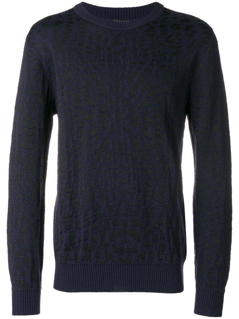 Just Cavalli Abstract Knit Sweater - Blue