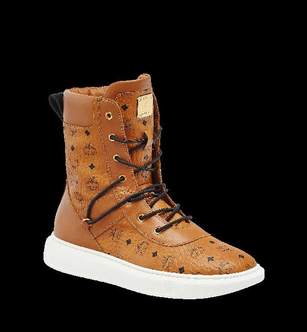 6fc3101c79f Mcm Visetos High-Top Logo Boots In Co   ModeSens