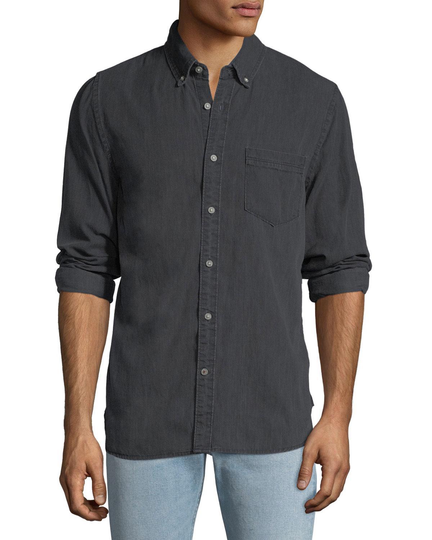 0bb3b391f Joe's Jeans Men's Sandoval Denim Sport Shirt In Black   ModeSens