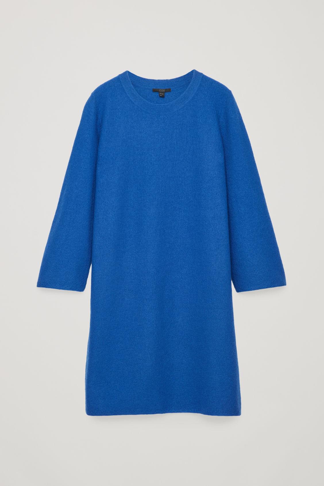 f8057eb73b6f Cos Boiled Wool Jumper Dress In Blue | ModeSens