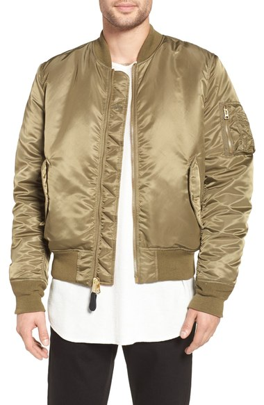 22f0ce5936e9 Alpha Industries  Ma-1  Slim Fit Bomber Jacket In Vintage Olive ...
