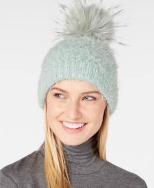 222854c48df Echo Fuzzy Cable-Knit Pom Pom Hat