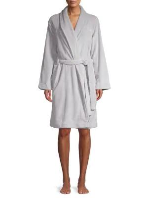 Calvin Klein Logo Fluffy Robe In Trance