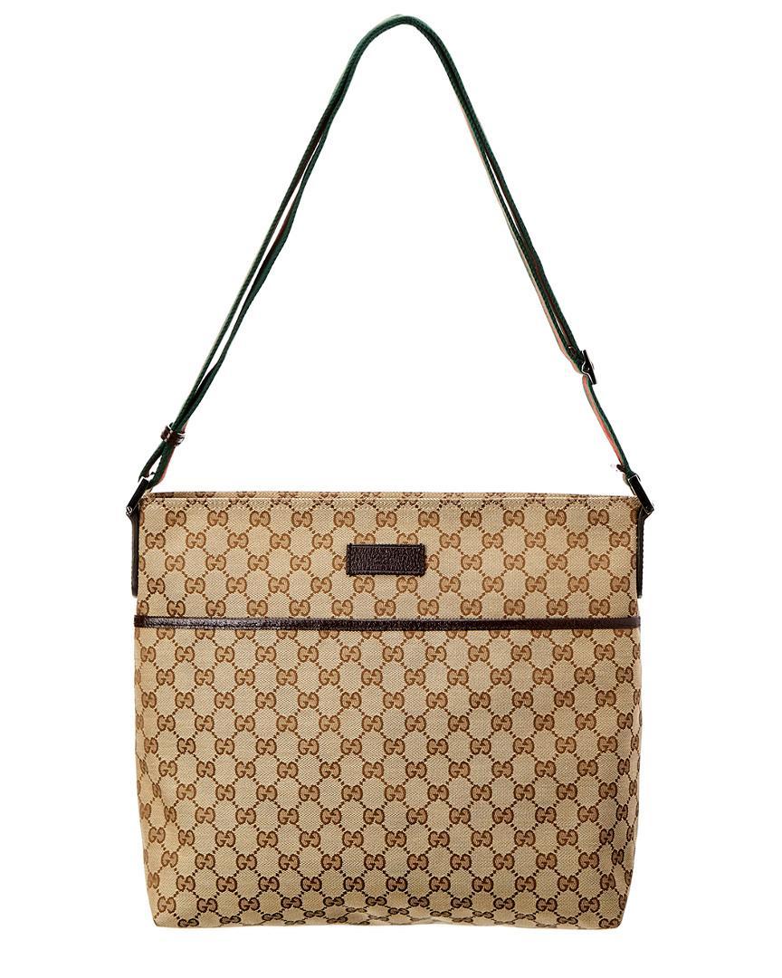 ea31ace6d575 Gucci Brown Gg Supreme Canvas & Leather Messenger Bag In Nocolor ...
