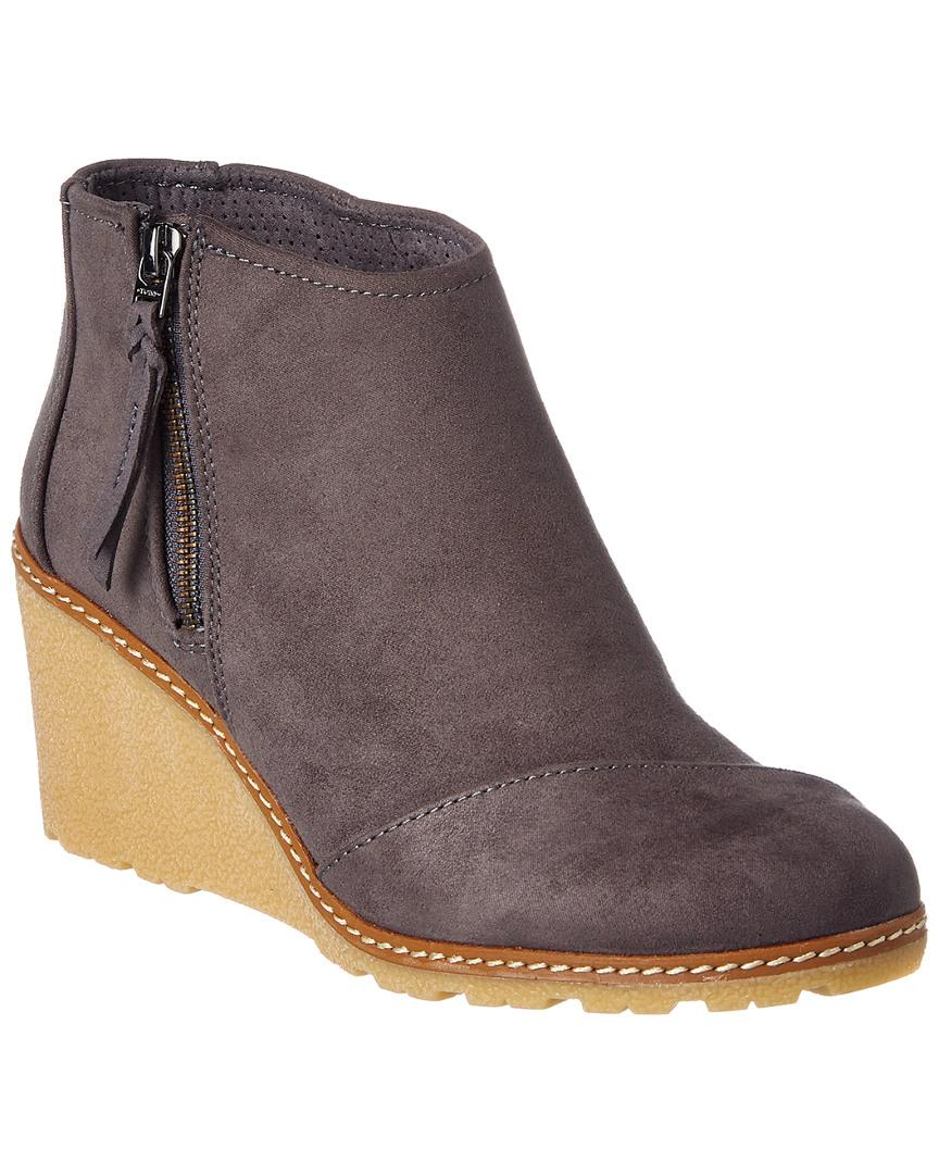 a6a9da5c26b Toms Avery Wedge Bootie In Grey