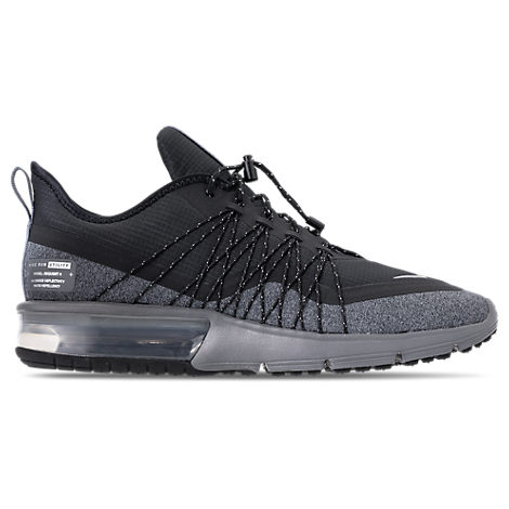 save off 142fe c0504 Nike Men s Air Max Sequent 4 Shield Running Sneakers From Finish Line In  Black Metallic