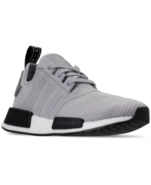 Adidas Men's Nmd R1 Casual Sneakers From Finish Line In Camo Heel Grey Two / Grey