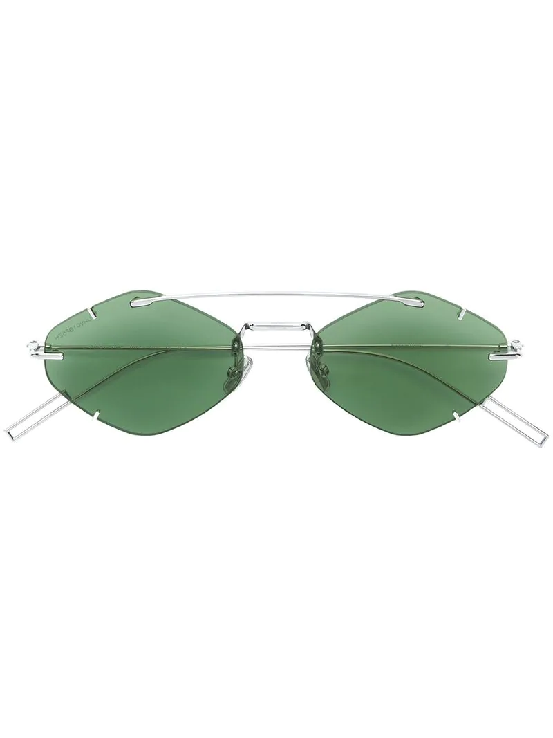 24f42a395862 Dior Eyewear Inclusion Sunglasses - Green | ModeSens