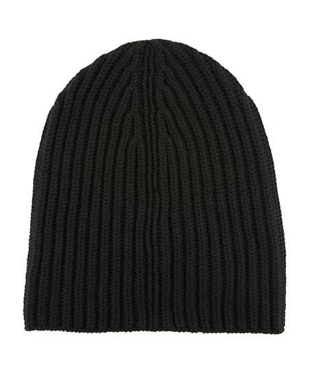 Loro Piana Men's Cashmere Rib-knit Beanie In Black