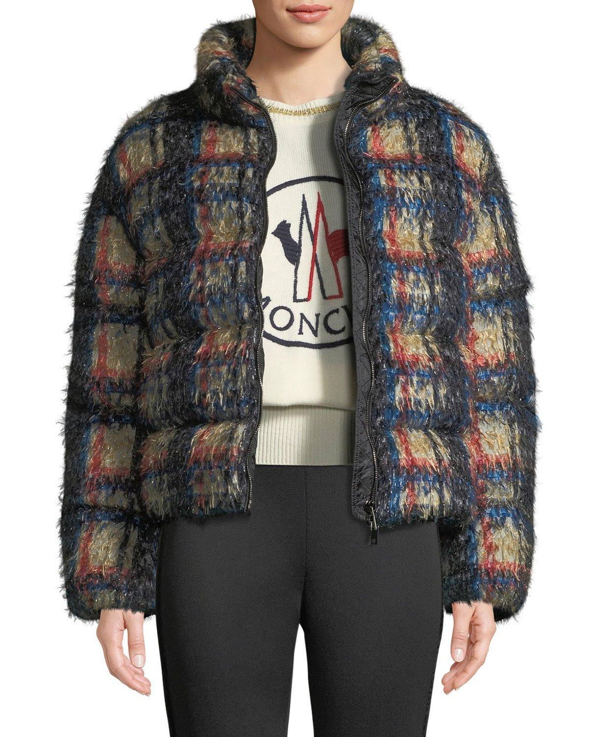 d7a383c42cb4 PLAID DOWN-FILL COAT. EXCLUSIVELY AT NEIMAN MARCUS Moncler ...