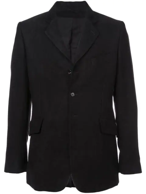 Ann Demeulemeester Fitted Blazer In Black