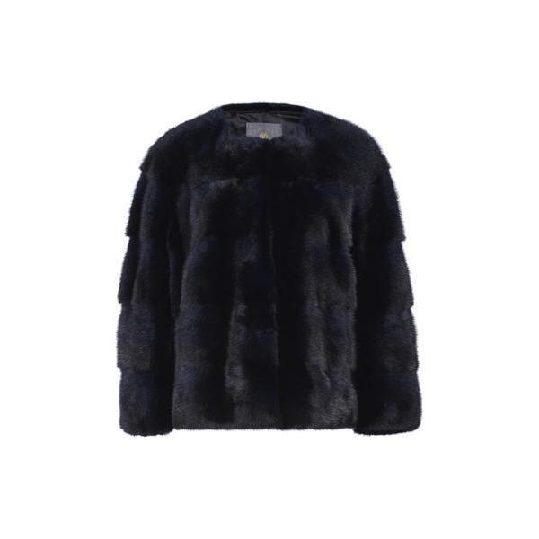 Lilly E Violetta Sarah Mink Fur Jacket Blu