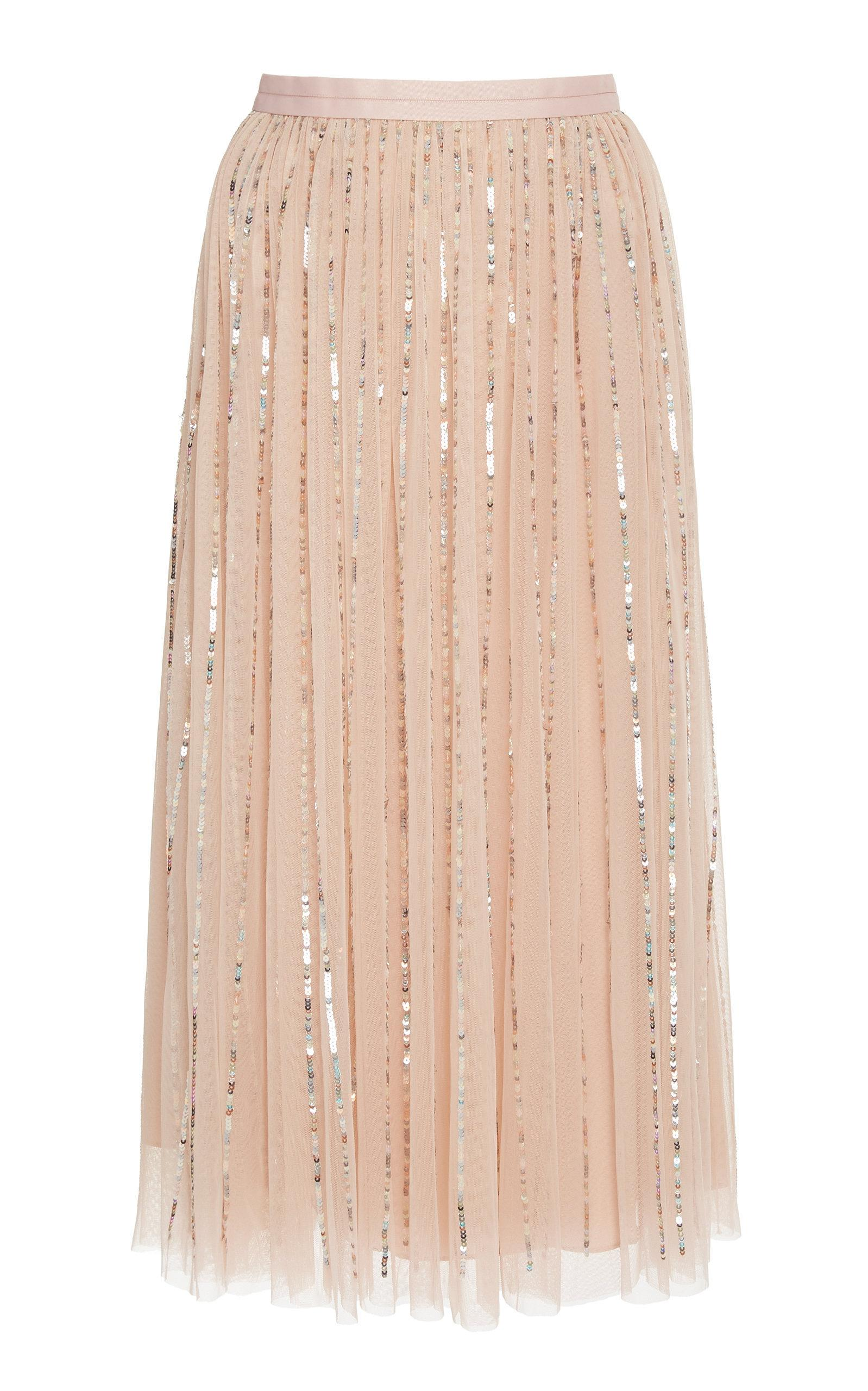 65035158a3 Needle & Thread Midaxi Shimmer Sequin Skirt In Pink | ModeSens