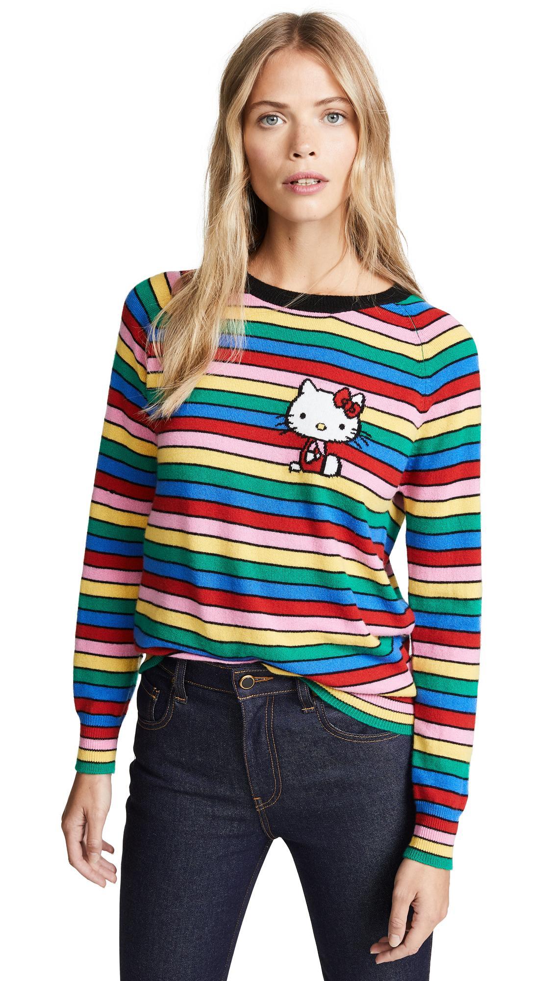 d94b30eec Chinti & Parker Hello Kitty Rainbow Stripe Cashmere Sweater In Multi ...