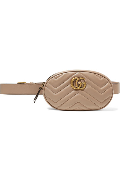 9f94b5426fd Gucci Gg Marmont Quilted Leather Belt Bag In Neutral