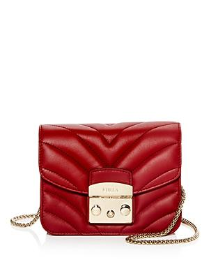 d9595018f Furla Metropolis Mini Quilted Leather Crossbody In Ciliegia D Red/Gold