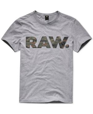 9f893bf0fa5 G-Star Raw Men's Tahire Camo Logo T-Shirt, Created For Macy's In ...