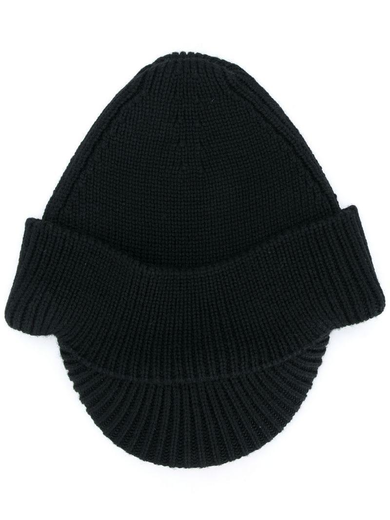 4604b917a Prada Ribbed Knit Beanie - Black