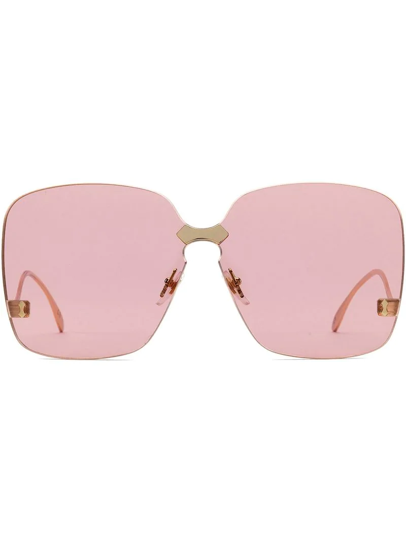 6d3b6723d7d0a Gucci Eyewear Square-Frame Rimless Sunglasses - Pink In Pink   Purple