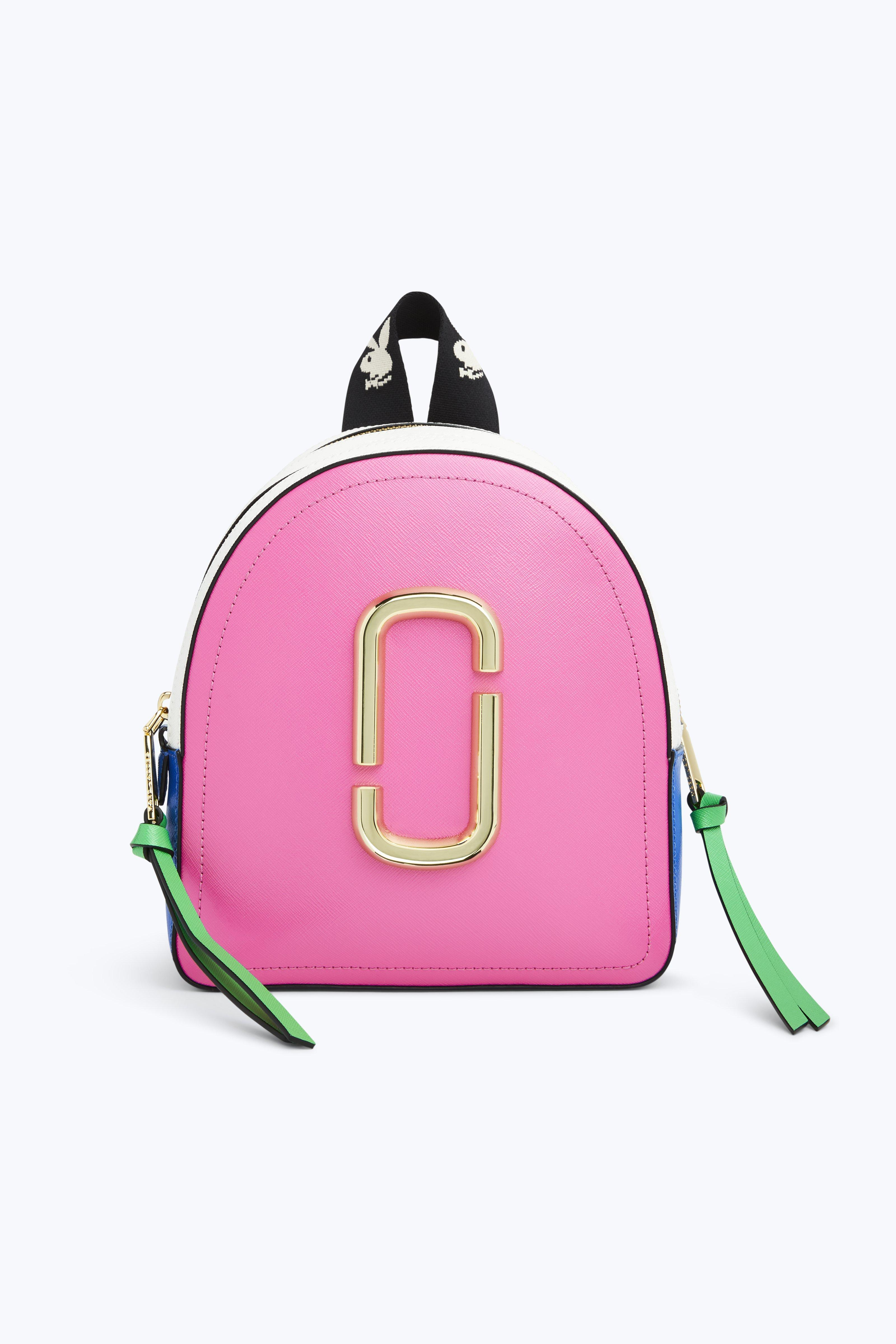 1e4b70e057d2 Marc Jacobs Playboy Bunny Colorblock Leather Backpack In Vivid Pink Multi
