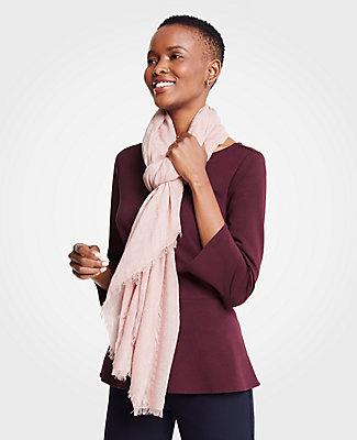 Ann Taylor Shimmer Stripe Scarf In Bright Orchid