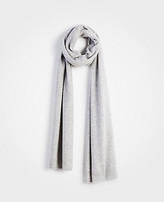 Ann Taylor Cashmere Scarf In Soft Grey Heather