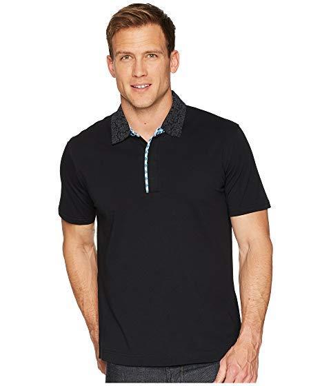 Robert Graham Diego Short Sleeve Knit Polo, Black