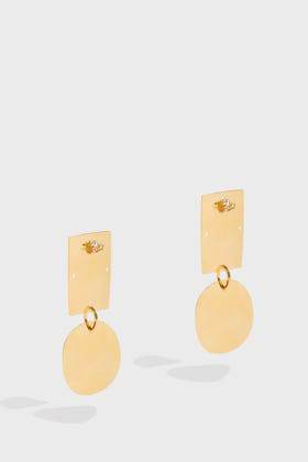 Annie Costello Brown Overt Earrings In Y Gold