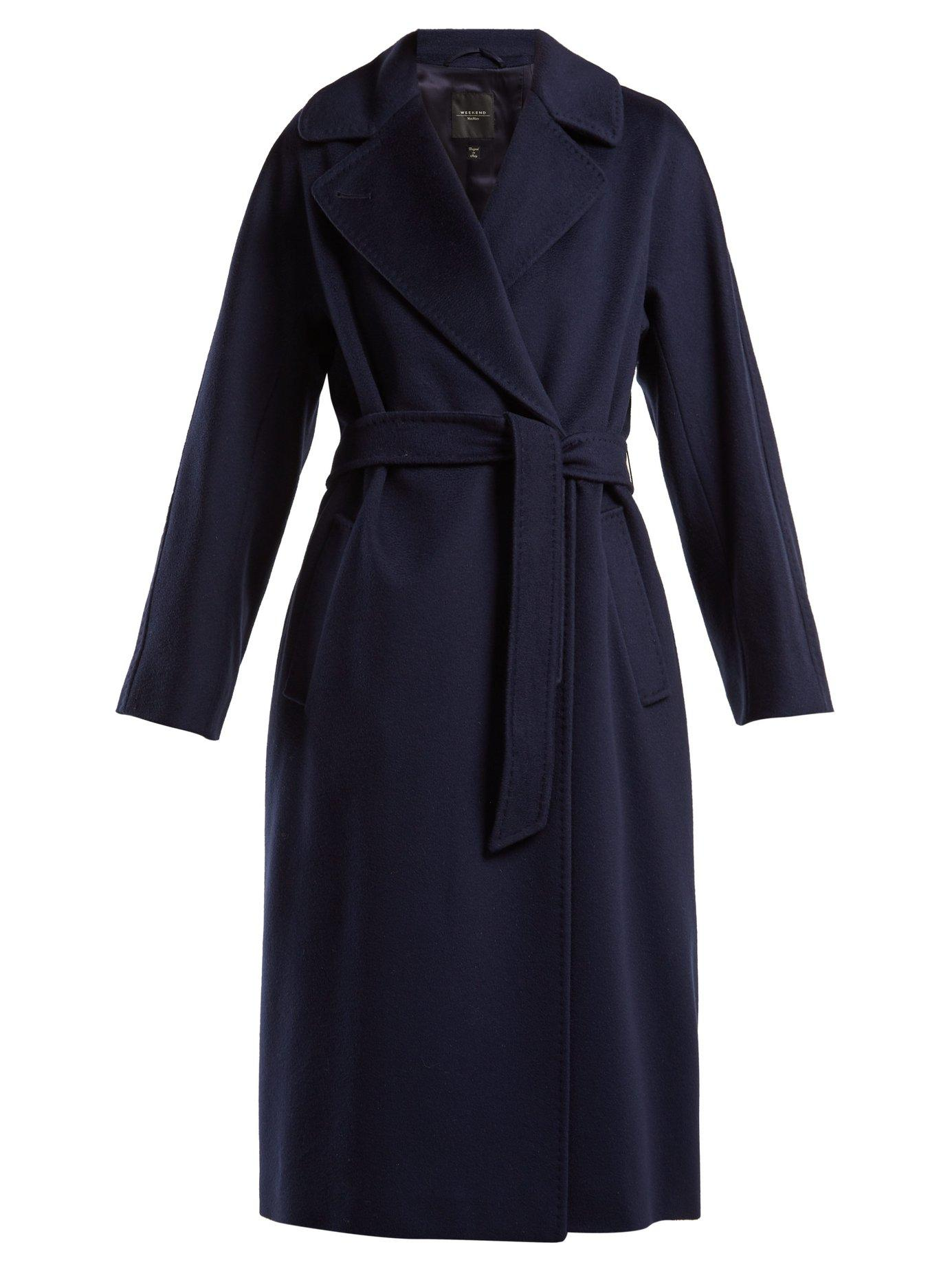 7bdec028ce2dc Weekend Max Mara Katai Coat In Navy