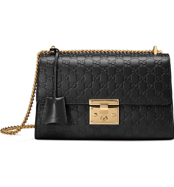 1d6922c2d Gucci Medium Padlock Signature Leather Shoulder Bag - Black In Nero ...
