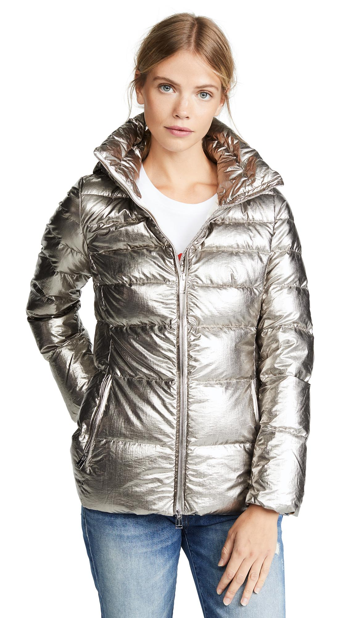 32c0bb079e3 Add Down Coat In Chrome | ModeSens