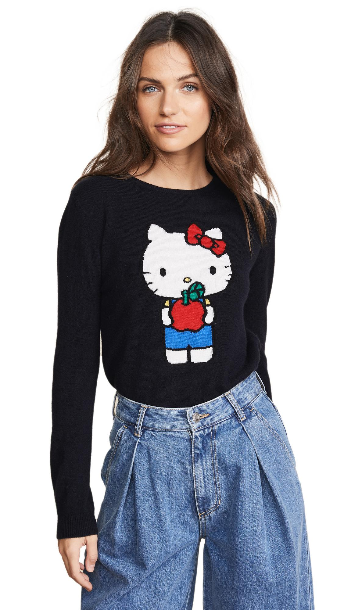 5ae9955a7 Chinti & Parker Hello Kitty Apples Cashmere Sweater In Navy | ModeSens