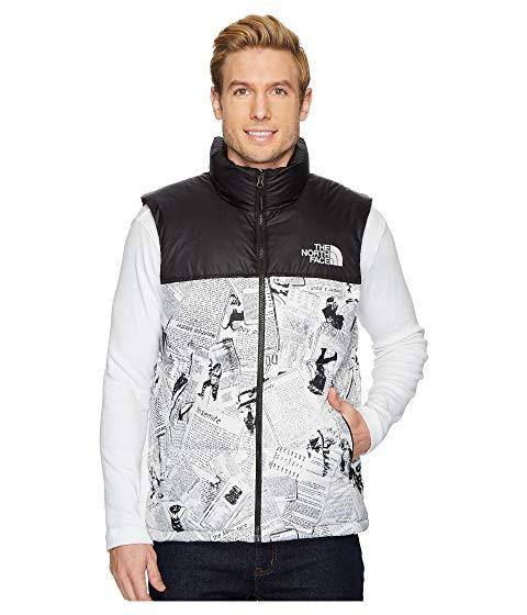 f4907c685 Novelty Nuptse Vest, Tnf White Catalogue Collage Print