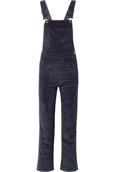 695a170153c5aa M.I.H Jeans Korine Cotton-Blend Corduroy Overalls In Midnight Blue ...