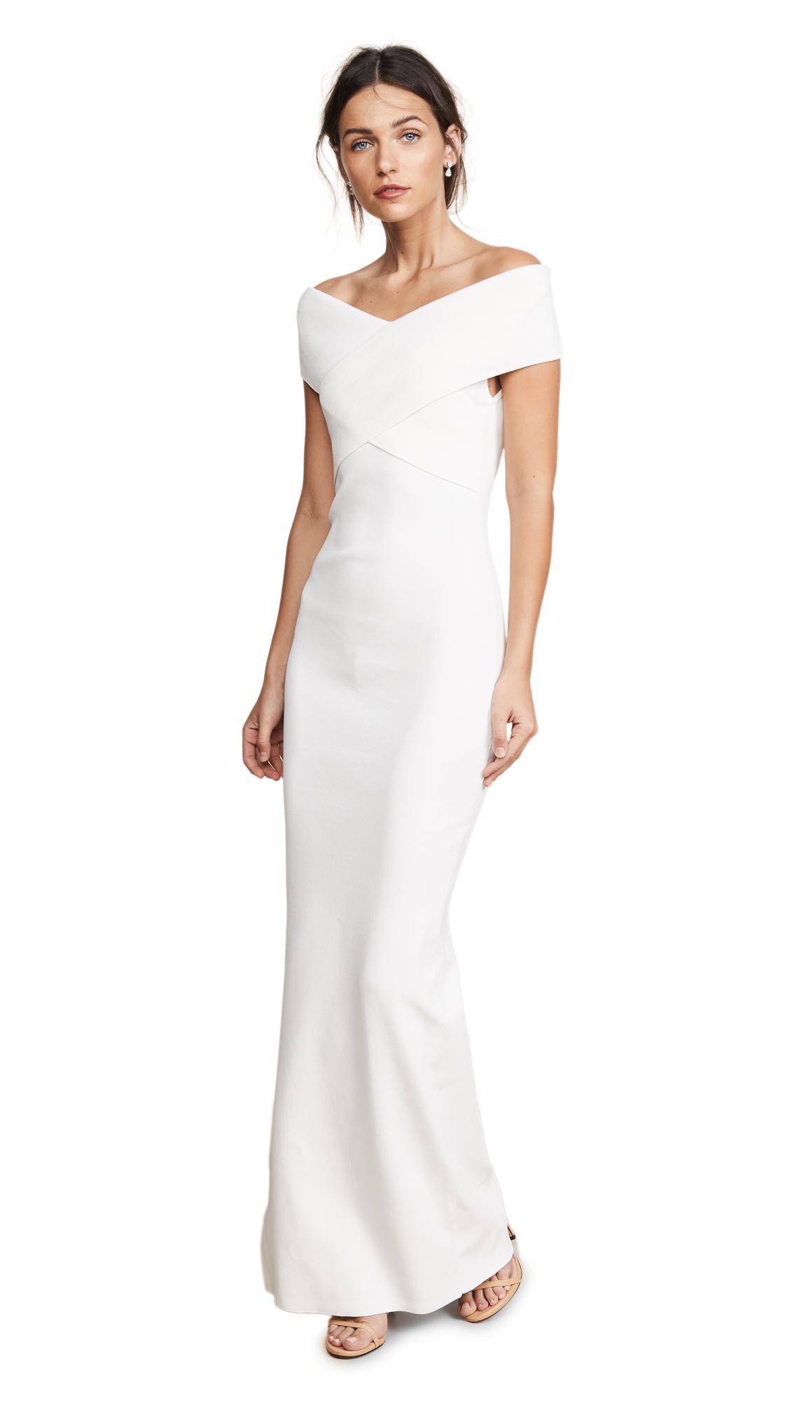 49a4c3e8eab0 Solace London Adina Dress In Winter White   ModeSens