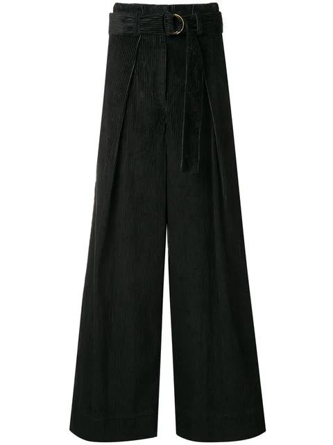 Ulla Johnson Rhodes Corduroy Trouser In Black