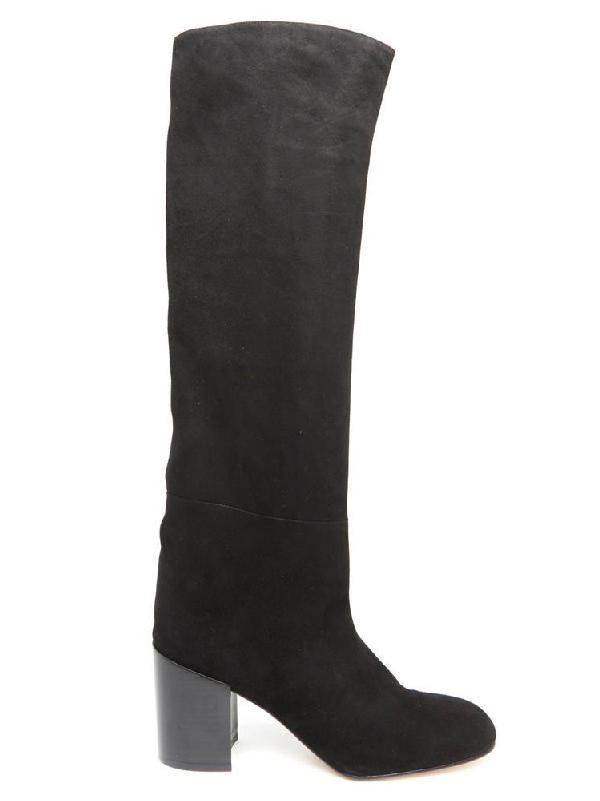 Stuart Weitzman High Knee Boots In Black