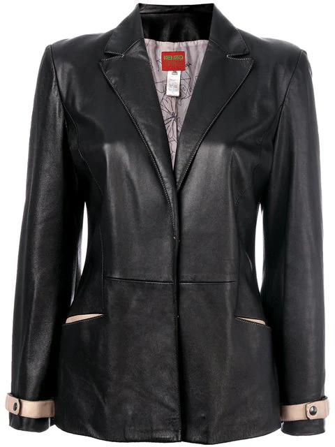 Kenzo V-neck Jacket In Black